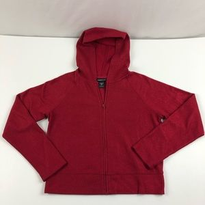 Express Jeans Full Zip Red Sparkly Hoodie Womens L